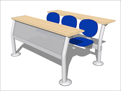 free sketchup model campus seat system