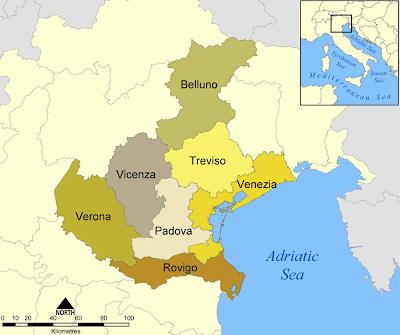Veneto Mapa de la Ciudad