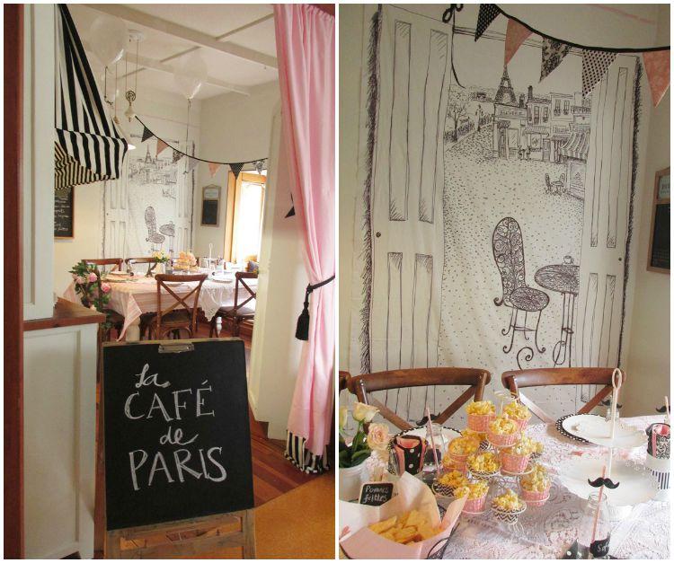 Paris cafe decor home decorating ideas