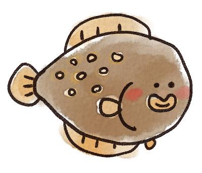 カレイのイラスト(魚)