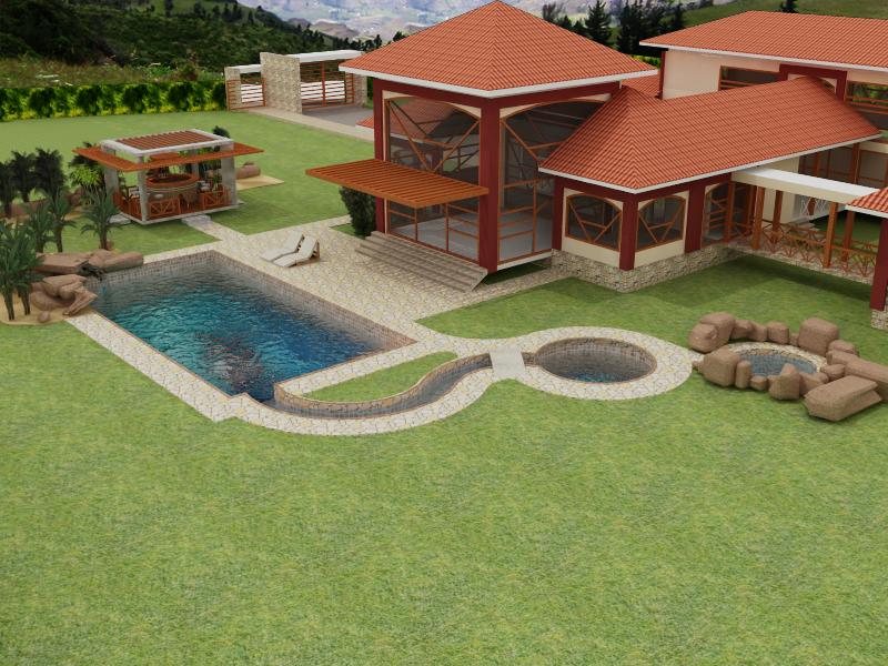 Bojorque construcciones vivienda en yunguilla piscina for Construccion de piscinas en ecuador