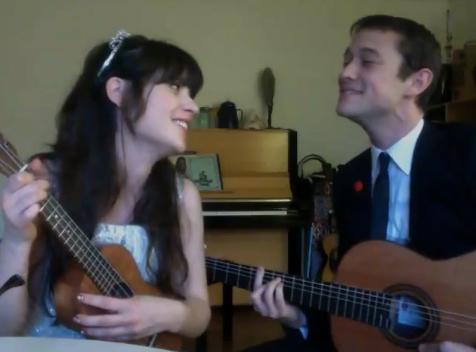 Zooey Deschanel & Joseph Gordon-Levitt Sing Together