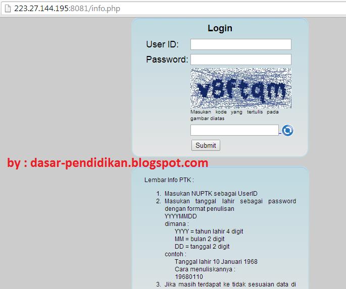 cek verifikasi data guru PTK melalui online di diknas