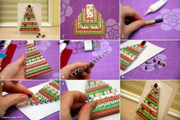 How to recycle do it yourself christmas decor tutorials christmas cards from colorful paper solutioingenieria Choice Image