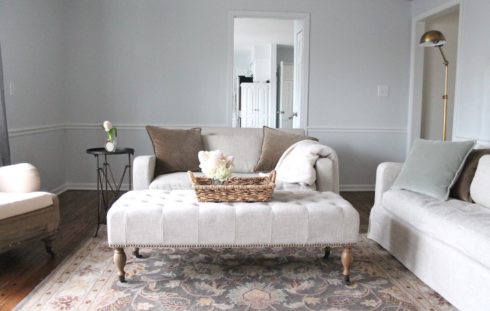 Our living room julie blanner for Sherwin williams paint ideas for living room