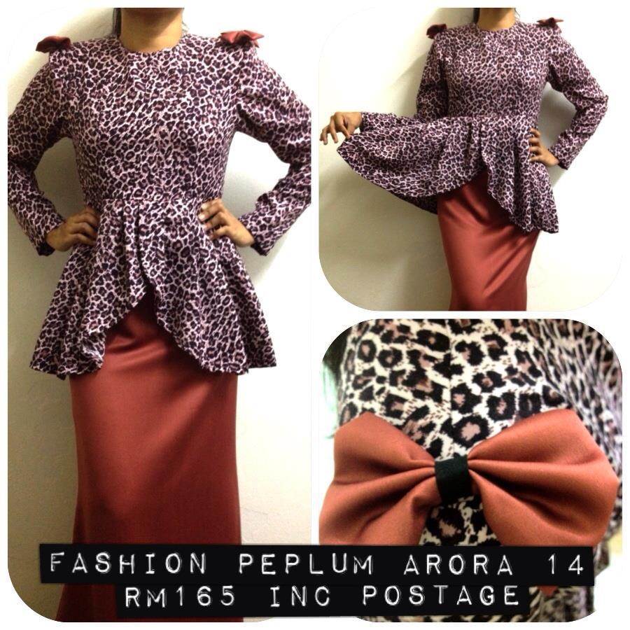 design fashion peplum arora 14 baju kurung moden peplum kain