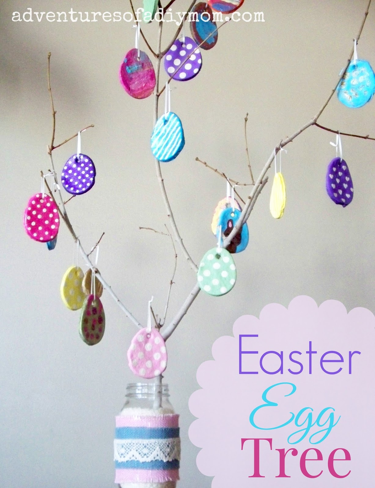 Salt Dough Easter Egg Tree