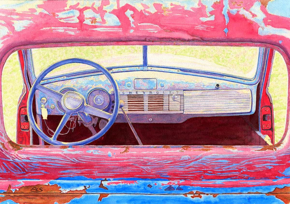"Old Chevrolet Truck - Watercolor 14"" x 20"""