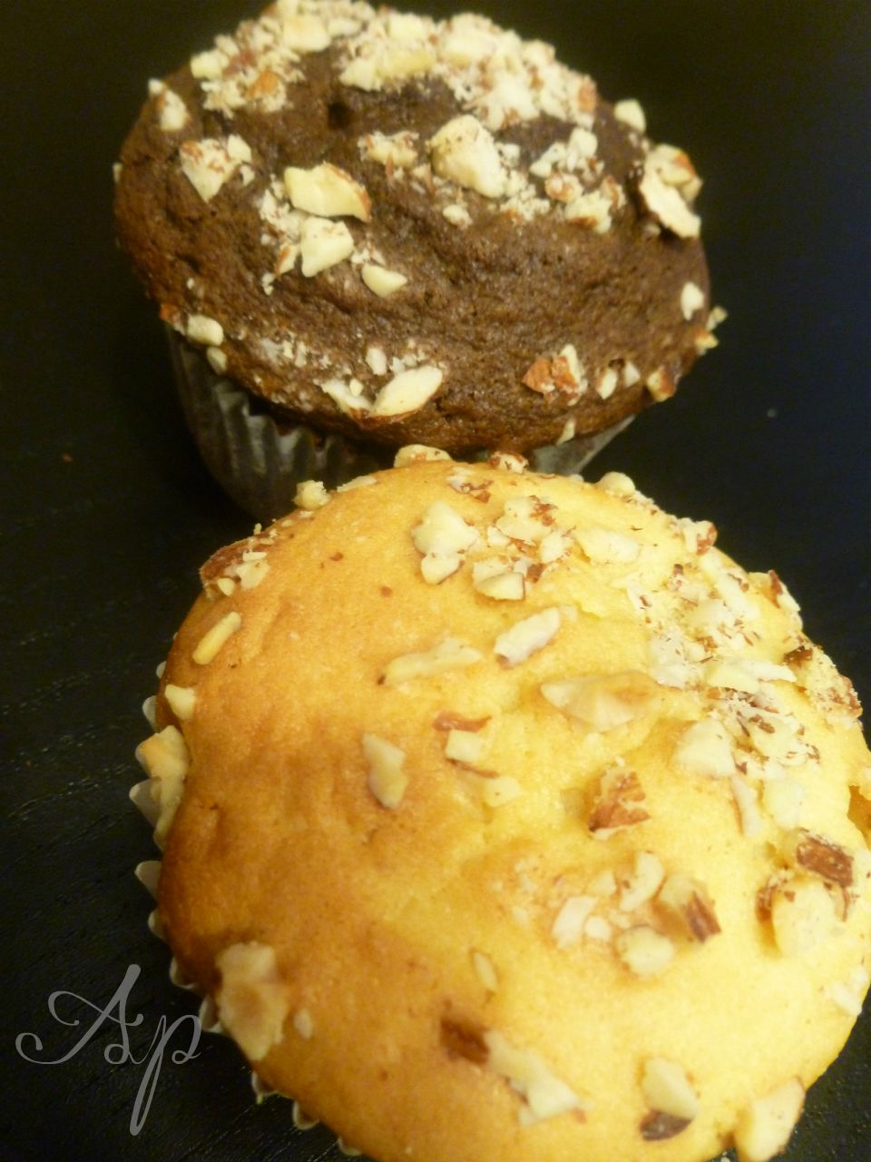 Il senso del gusto per apmy sense of taste muffin bianchi - Piatti bianchi e neri ...