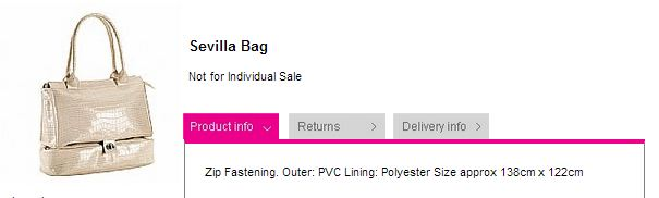 Avon Shop UK Valentines Gift Offer Sevilla Bag