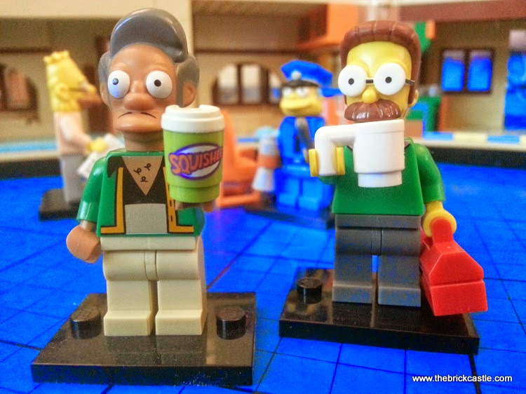 LEGO Simpsons Apu and Ned Flanders minifigures