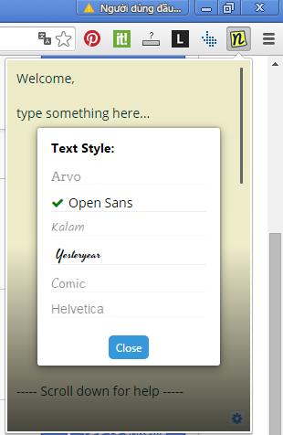 Ứng dụng ghi chú cá nhân Sticky Notes Chrome trên máy tính