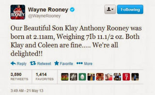 The Rooneys Announce the Birth of Their Second Child Klay.
