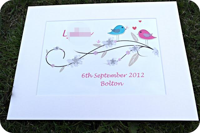 Little Pea & Bertie Birds on a Branch Print