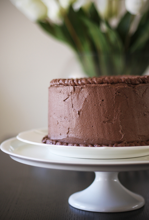 Double Chocolate Layer Cake Recipe — Dishmaps