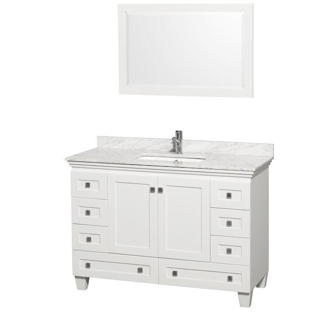 Contemporary White Bathroom Vanity