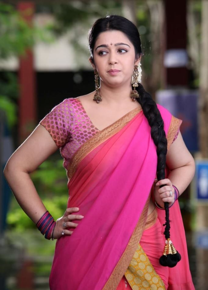fair and lovely sexy Charmi latest half saree hot photos