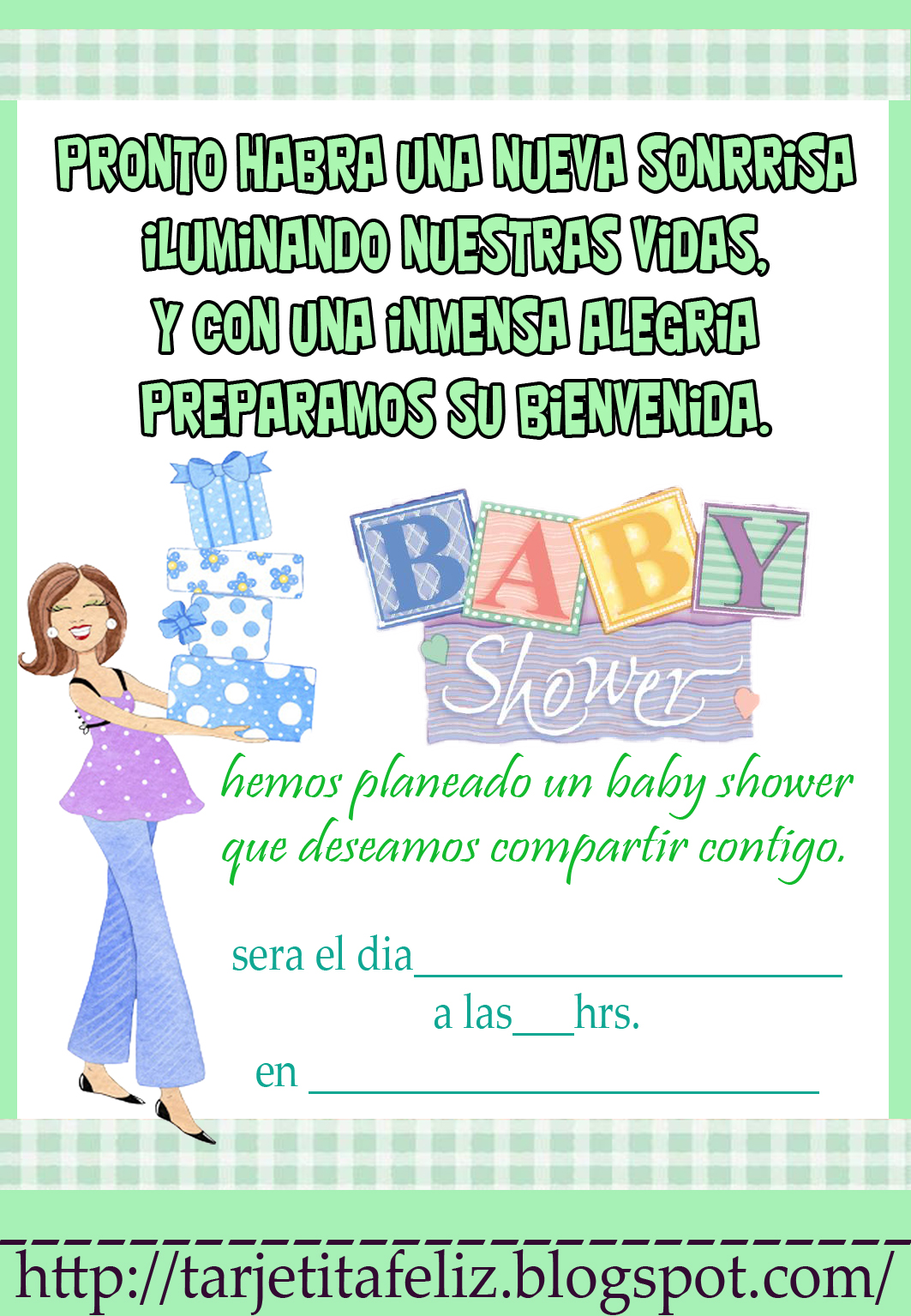 Frases Para Invitacion A Baby Shower