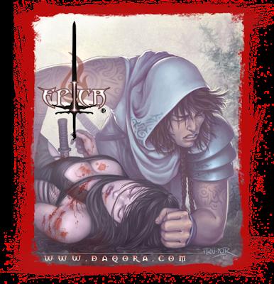 Ilustración realizada por ªRU-MOR incluida en el modo historia del juego de cartas de ÉPICA: Edades Oscuras