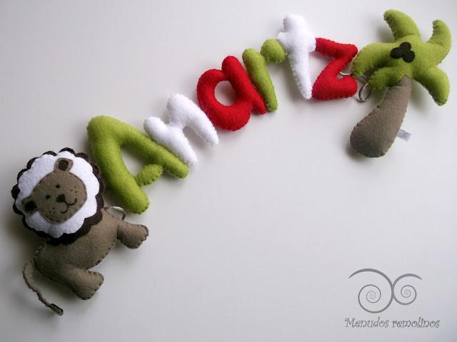 Nombre decorativo de fieltro (Anartz)