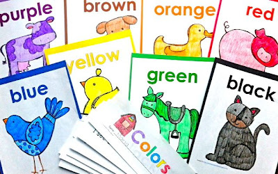 'Colors' Interactive Farm book Emergent Reader and coordinating poster set, $4