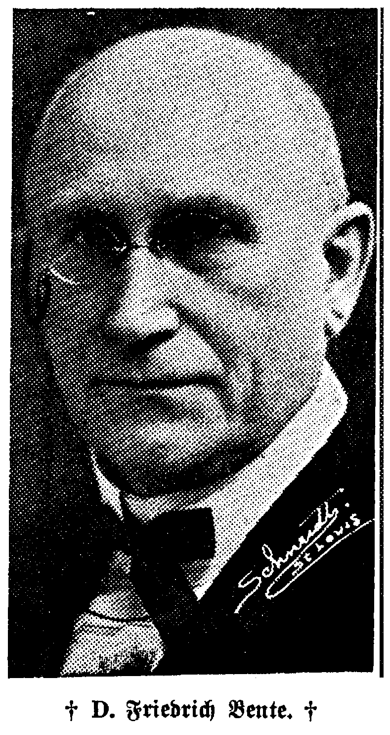 Prof. Friedrich Bente