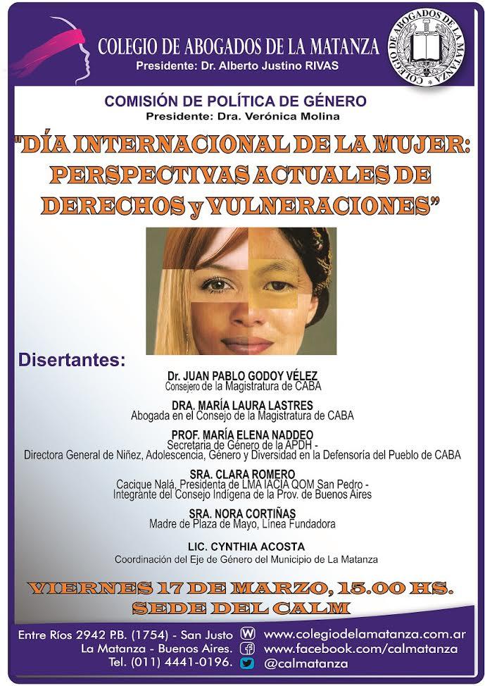 17 de marzo Derechos de las mujeres