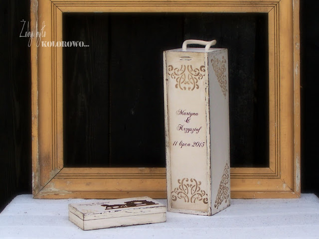 decoupage wine box
