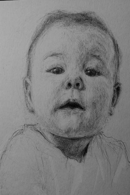 retrato,bolígrafo negro, le frère