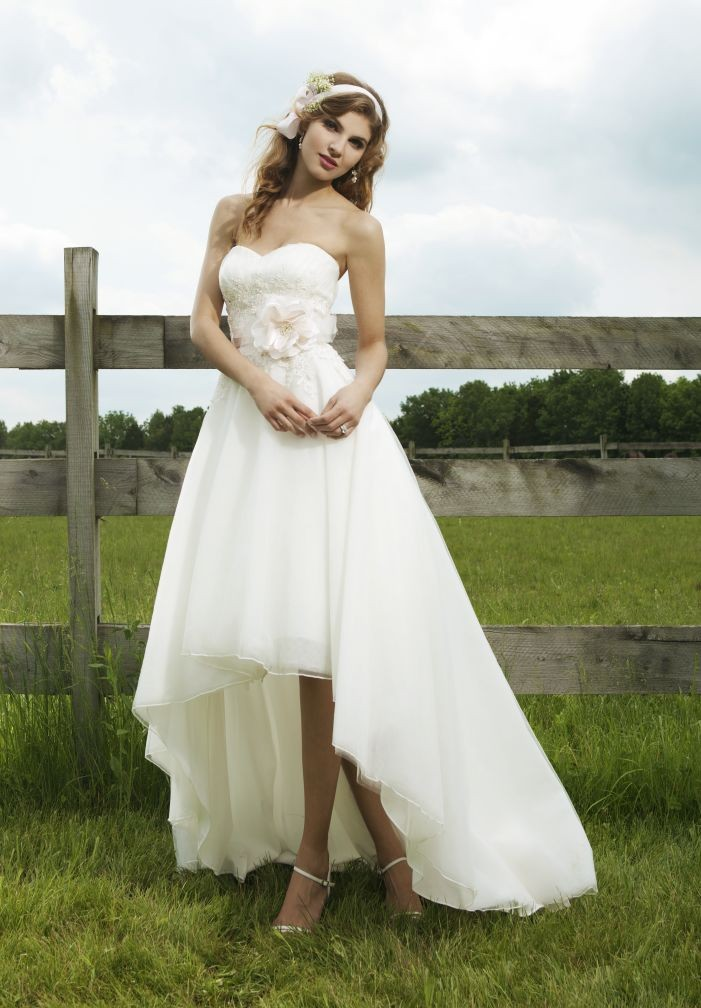 elegant high-low wedding dress