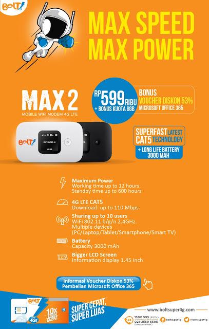 BOLT! Mobile WiFi MAX2