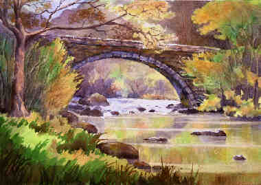 how to draw a realistic bridge