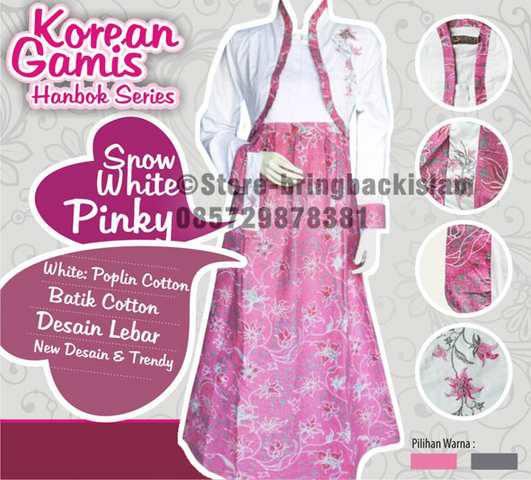 Gamis hanbok batik