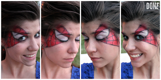 {The Undone Blog} Spider-Man Makeup