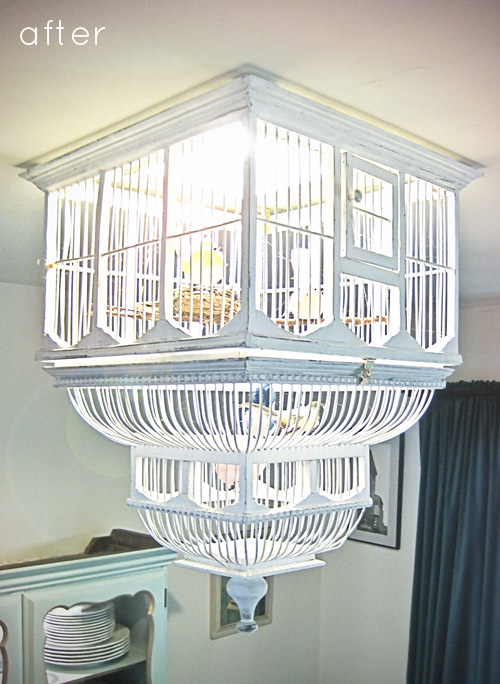 ruche project diy birdcage chandelier. Black Bedroom Furniture Sets. Home Design Ideas