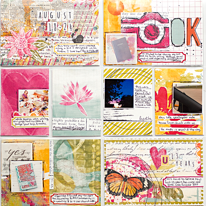 Heather Greenwood Designs | PL Week 34 | #mixedmedia #hybridscrapbook #pocketscrapbook