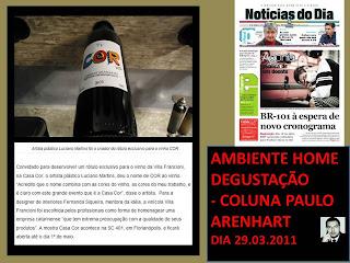 NEWS CASA COR 2011 - AMBIENTE HOME DEGUSTAÇÃO