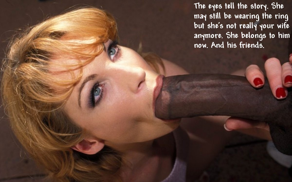 Cock slave wife is White black slut