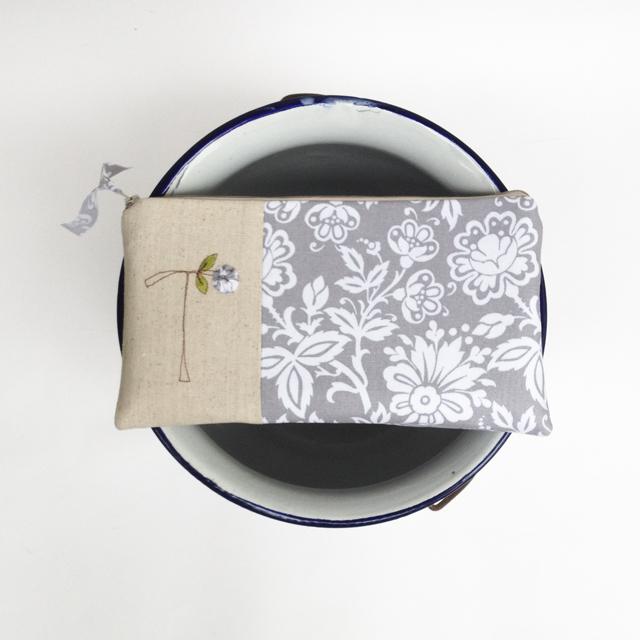 Grey Monogram Clutch by Mama Bleu Designs
