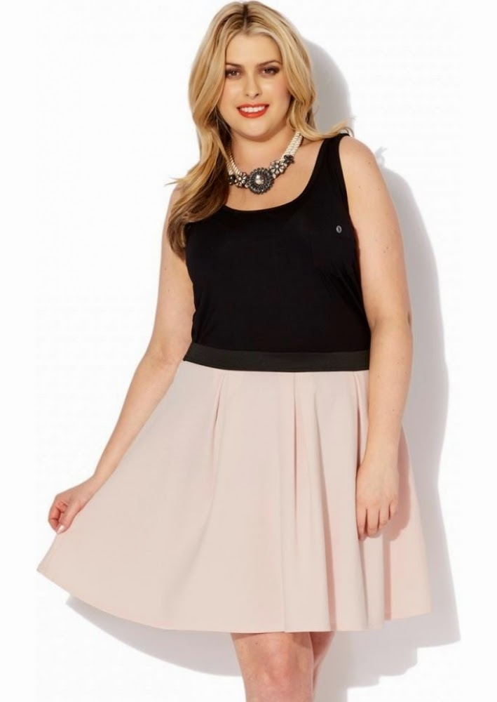 Pink Clove Pleated Skater Skirt With Contrast Waistband 16