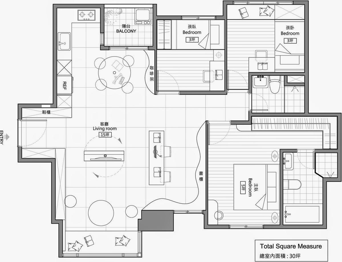 Projeto de apartamento moderno