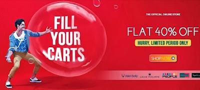 Trendin Offer: Flat 40% off on Big Brands Apparels (Peter England , Allen Solly, People, Louis Phillip, Van Heusen)