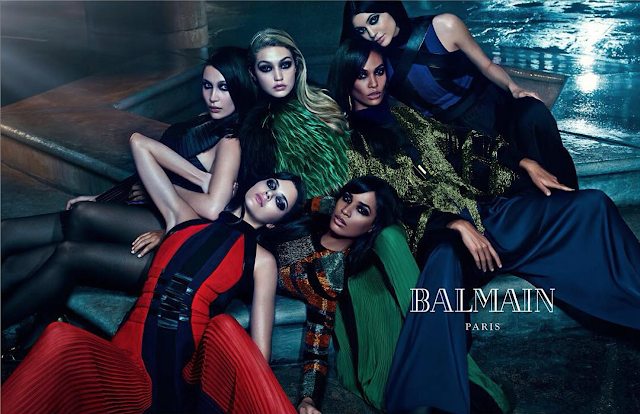 Balmain's Fall/Winter 15 Ad Campaign Starring Kylie & Kendall Jenner!