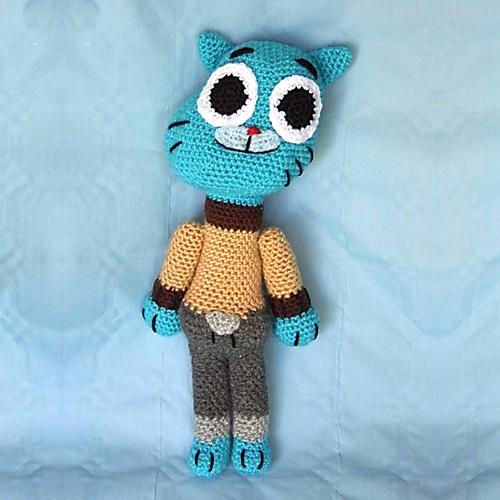 Gumball crochet juguete para niños