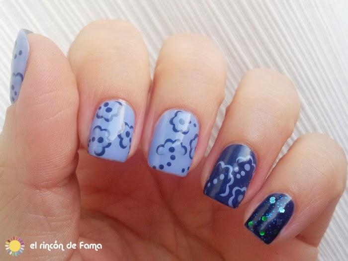 Flower dots nails | el rincon de fama
