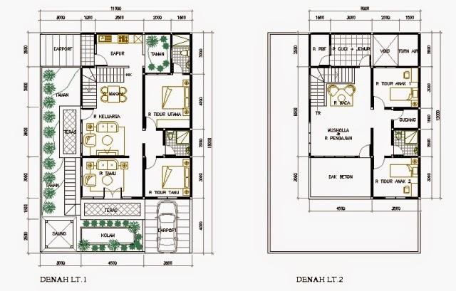 Desain Rumah Minimalis 2 Lantai Type 70