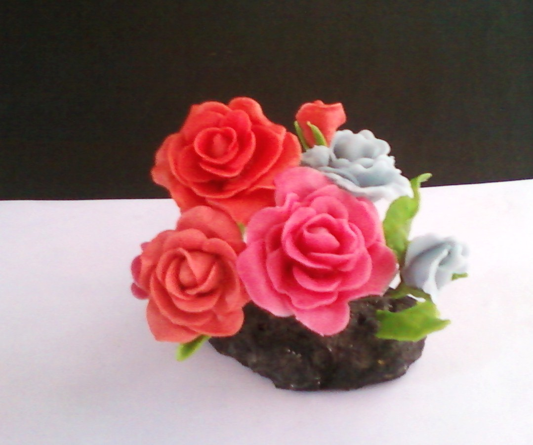 Craft world cold porcelain clay roses for Craft porcelain air dry clay