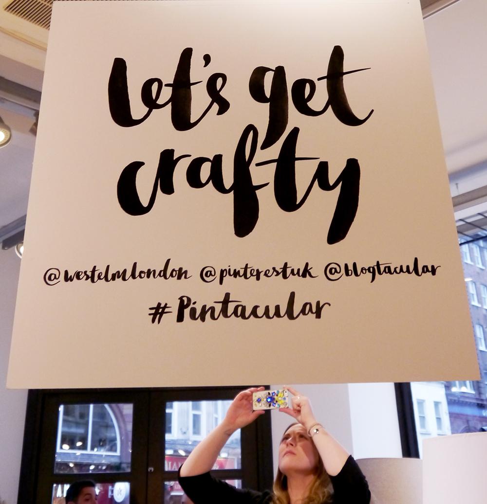 Blogtacular, London, 2015, blog, blogger, Scottish blogger, craft, workshop, pintacular, pinterest, west elm london