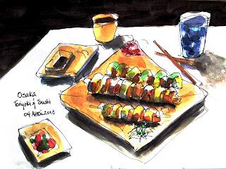 Urban Sketchers Tri Cities Washington Osaka Teriyaki