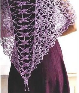 """На нашем женском портале  """"Дамочка """" Вы постоянно можете найти публикацию - вязание крючком шали схемы бесплатно, с..."""